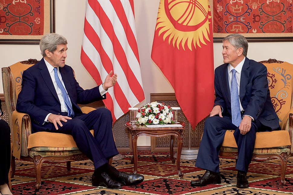 Secretary Kerry Meets With Kyrgyz President Atambaev in Bishkek, Kyrgyzstan (22454204010)