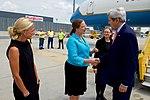 Secretary Kerry Shakes Hands With Ambassador Holgate at the Vienna International Airport (27853735873).jpg