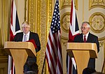 Secretary Tillerson Participates in a Joint Press Availability With United Kingdom Foreign Secretary Johnson in London (37226872145).jpg