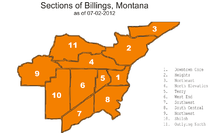 Sections of Billings Montana