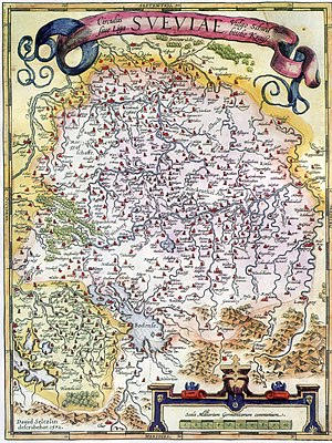 Swabia - Map of the Swabian Circle (1572)