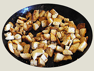 Crouton - Croutons in a bowl.
