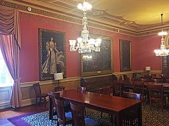 Healy Hall - Caroll Parlor, a dedicated study room for senior undergraduates inside Healy.