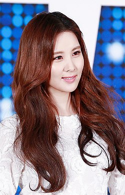 Seohyun at musical Mamma Mia press conference in January 2016 01.jpg