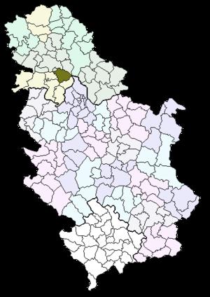 karta srbije indjija Inđija   Wikipedia karta srbije indjija