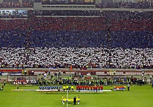 Serbia national football team - Atmosphere at the start of match vs. France, 9 September 2009