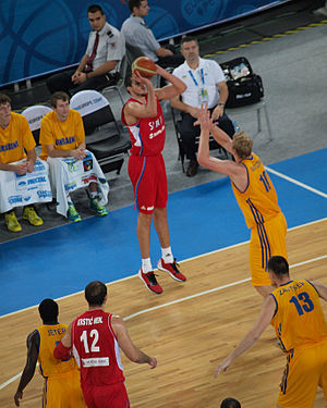Sport in Ukraine - Serbian team attacking Ukraine, Eurobasket 2013