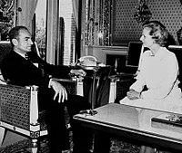 photographie de Thatcher et Mohammad Reza