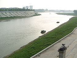 Shaying River near downtown of Zhoukou City