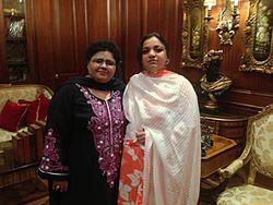 Shazia Manzoor with personal secretary mehwish..jpg