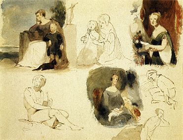 Sheet of Figure Studies by Thomas Sully.jpeg