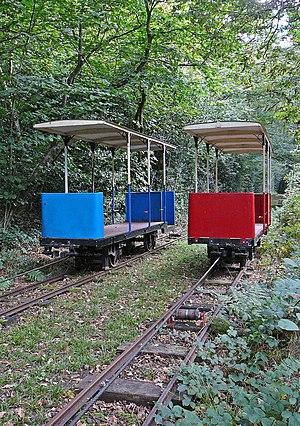 Shipley Glen Tramway - The cars during rebuild