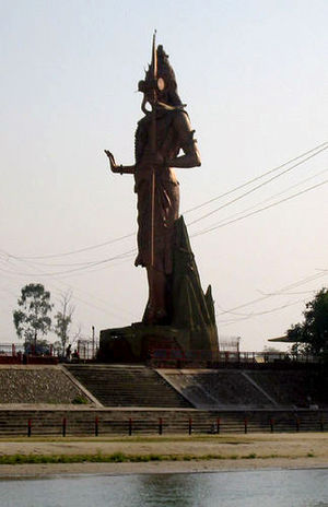 "A giant statue of Lord Shiva - ""the destr..."