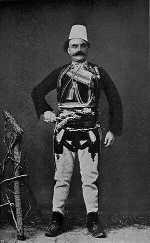 Shkreli (tribe) - Image: Shkodra – Chief of Skreli tribe (W Le Queux)