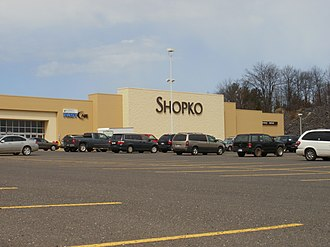 Shopko - Current store facade at Houghton, Michigan location in April 2012. This location will be closing on May 5, 2019.