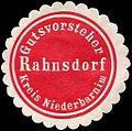 Siegelmarke Gutsvorsteher Rahnsdorf - Kreis Niederbarnim W0224373.jpg