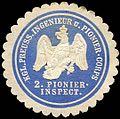 Siegelmarke Königlich Preussische Ingenieur und Pionier - Corps - 2. Pionier - Inspection W0223342.jpg