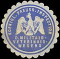 Siegelmarke K.Pr. Inspection d. Militairveterinairwesens (Veterinär, Tierarzt) W0391486.jpg