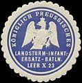 Siegelmarke K.Pr. Landsturm-Infanterie-Ersatz-Bataillon Leer X 23 W0346839.jpg