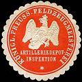 Siegelmarke K. Pr. Feldzeugmeisterei Artilleriedepot-Inspektion W0285412.jpg