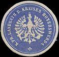 Siegelmarke K. Pr. Landrath des Kreises Hoyerswerda W0323296.jpg