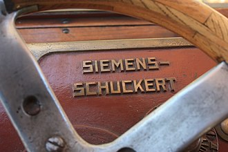 Siemens-Schuckert - Siemens-Schuckert name on a tram steering wheel