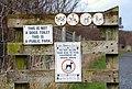 Sign, Drains Bay - geograph.org.uk - 698999.jpg