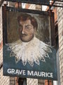 Sign for the Grave Maurice - geograph.org.uk - 891986.jpg