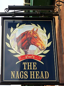Sign for the Nags Head, Bridlington - geograph.org.uk - 645329