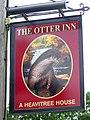 Sign for the Otter Inn, Weston - geograph.org.uk - 1447584.jpg