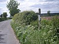 Sign to a bridleway - geograph.org.uk - 809916.jpg