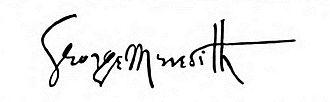 George Meredith - Image: Signature of George Meredith