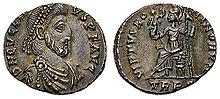Eugenius pe o insigna veche imperială