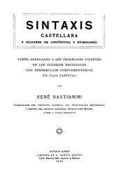 Q94260418: Español: Sintaxis castellana y nociones de Lingüística y Etimología