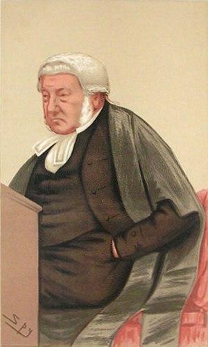 George Bramwell, 1st Baron Bramwell - Image: Sir George Wilshere Vanity Fair 29 January 1876