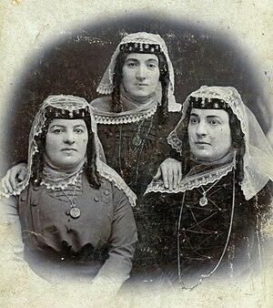 Dvals - Circa 19th century photo of Dvali family sisters.