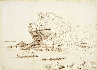 Sketch of North-West Cliff Brown's Island, Thames