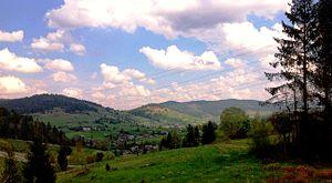Skole Beskids - Image: Skole Beskids. View of the village Plav'ye