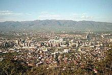 Vista di Skopje