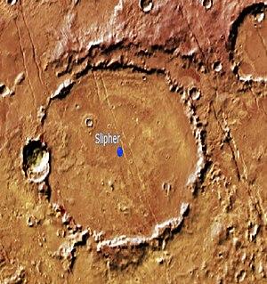 Slipher (Martian crater) - Image: Slipher Martian Crater