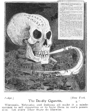 Tobacco industry - Anti-smoking ad, 1905
