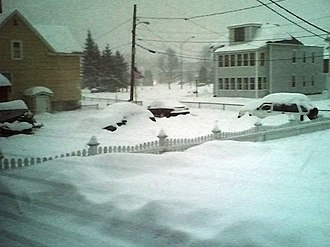 Global storm activity of 2007 - Snow cover in Berlin, New Hampshire