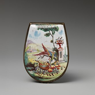 Black Country - An 18th century enamelled snuff box made in Bilston, now in the collection of the Metropolitan Museum of Art, New York