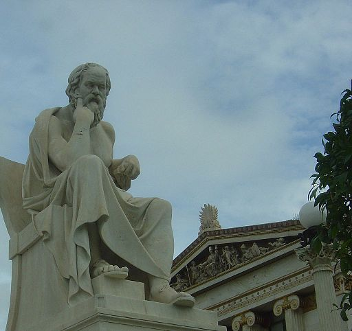 Socrates by Leonidas Drosis, Athens - Academy of Athens-corte