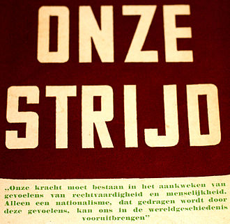 Our Struggle - 'Onze Strijd' Quote on Bookcover.