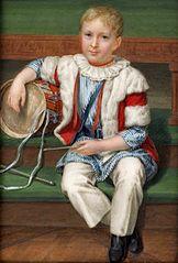 Miniatura Adama Potockiego (1822-1872) w wieku 5 lat