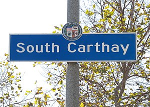 South Carthay, Los Angeles - South Carthay signage located at  1025 S. Crescent Heights Boulevard   (just south of Olympic Boulevard)