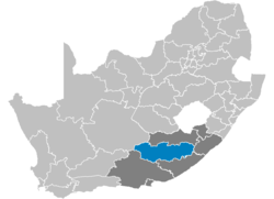 Ligging Chris Hani District Municipality