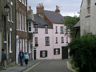 The Bailey historic area in the centre of Durham, England