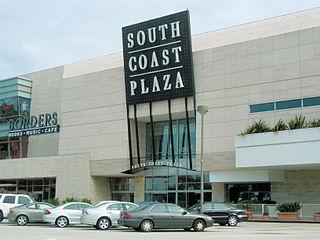 South Coast Plaza Shopping mall in Costa Mesa, California, United States